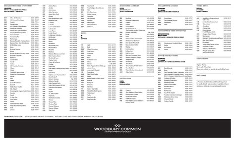 Woodbury Common Premium Outlets - Maplets
