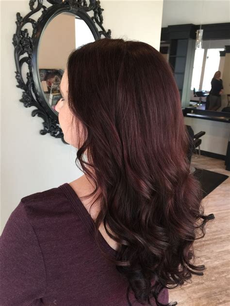Dark mahogany hair color with extensions   Hair color