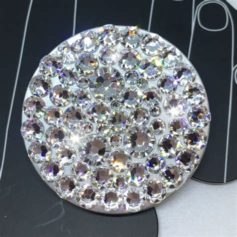 NEW Bling Authentic Silver PopSocket CLEAR Swarovski