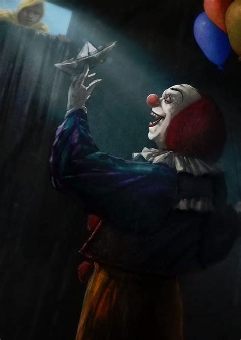 George and Pennywise | Horror movie art, Pennywise, Clown