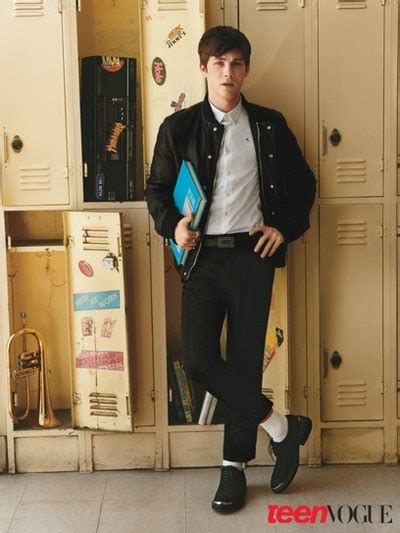 Logan Lerman, Lily Collins in Teen Vogue's Young Hollywood
