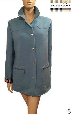 Authentic Burberry London Women Turquoise Wool Coat _ Size