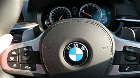 BMW 5 series technology and Interior with active cruise
