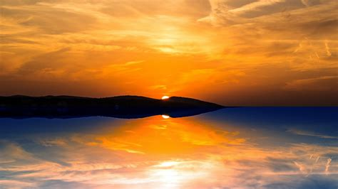 Orange Sunset Wallpapers   HD Wallpapers   ID #16935