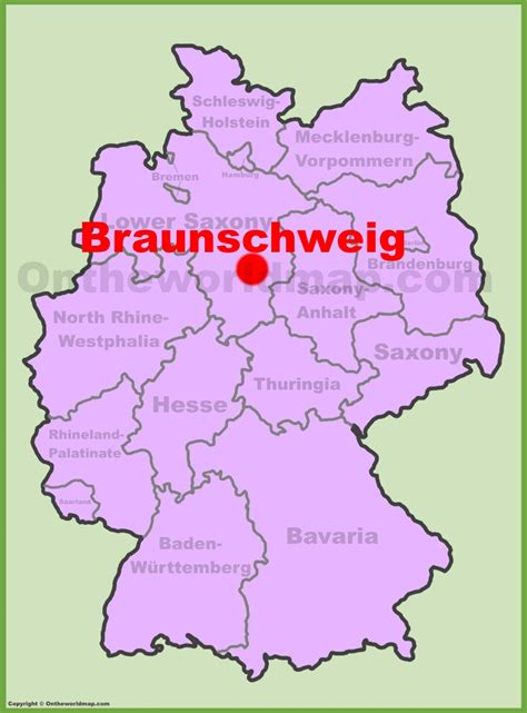 Braunschweig location on the Germany map