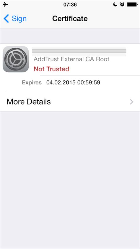 ios - Unable to import S/MIME certificate and key into my