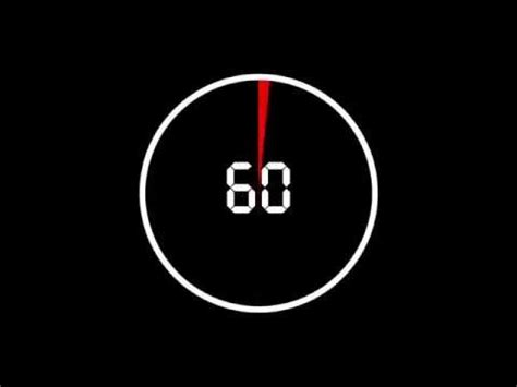 60 Second Countdown Timer Circle HD FREE with download