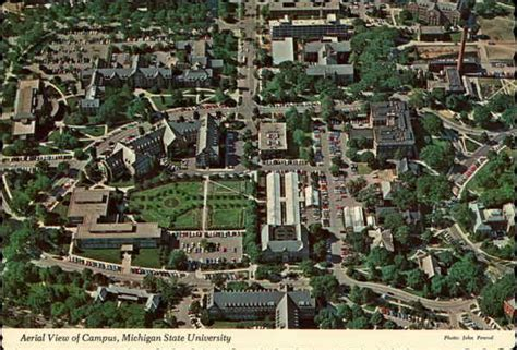 Aerial view of campus, Michigan State University East