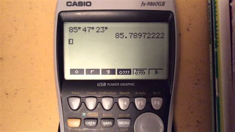 Graphical Calculators: Degrees Minutes Seconds - YouTube