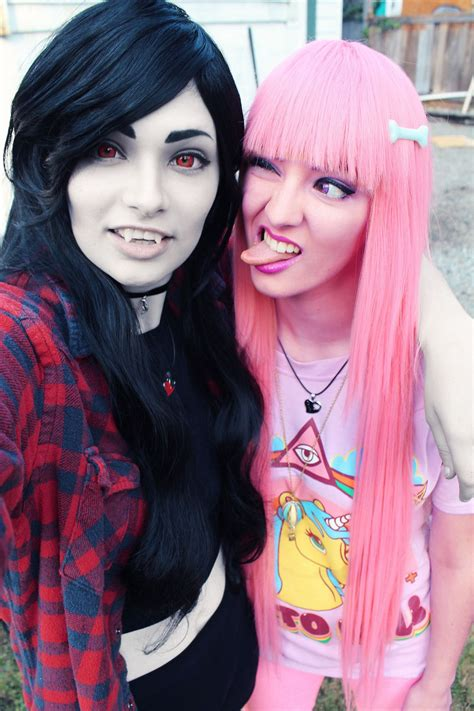 Awesome Marceline and Bubblegum cosplay | Adventure time