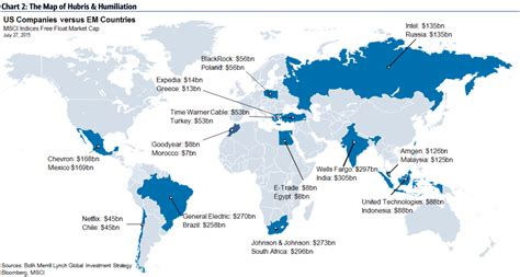 MAP: Colossal US companies worth more than the entire