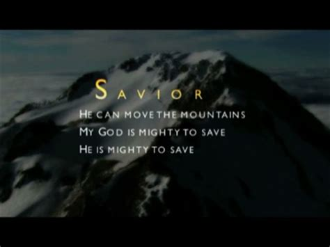 Mighty To Save Video Worship Song Track with Lyrics