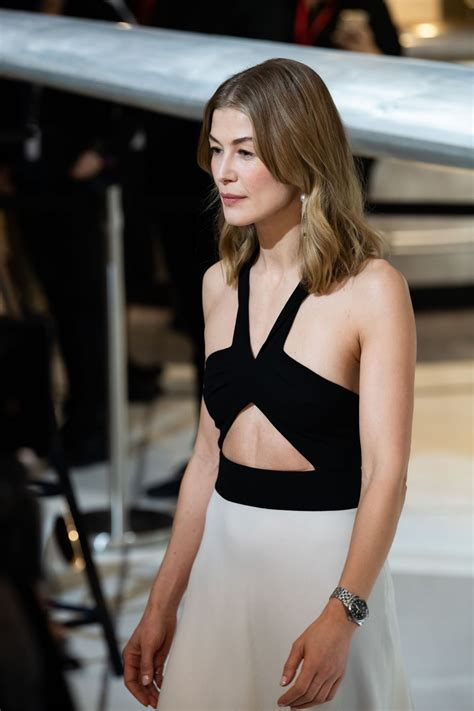 ROSAMUND PIKE at IWC Booth at Maison's Launch of Pilot's