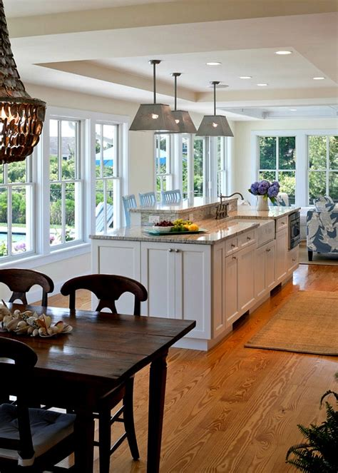 Cape Cod kitchen table and island - Hooked on Houses